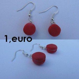 Boucles d'oreilles macaron rouge. bo-macaron-r-300x300