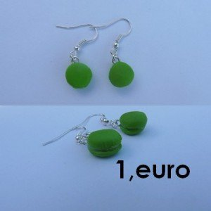Boucles d'oreilles macaron vert pomme. bo-macaron-v-300x300