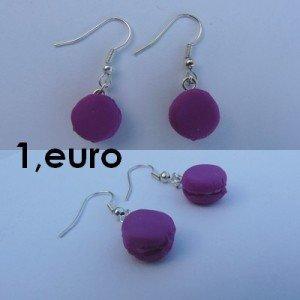Boucles d'oreilles macaron violet. bo-macaron-vi-300x300