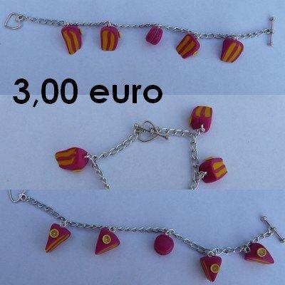 Bracelet. citron/framboise bracelet-citron-framboise