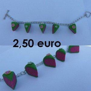 Bracelet part de gâteau. (rose et vert) bracelet-gateau-pamplemousse-fleur-danis1-300x300
