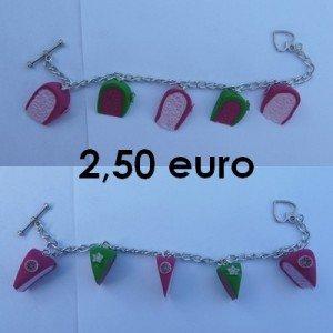 Bracelet part de gâteau. bracelet-rose-et-vert-300x300